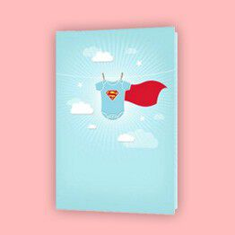 Super Baby greeting card