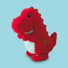 stuffed dinosaur for Valentine's Day gifts