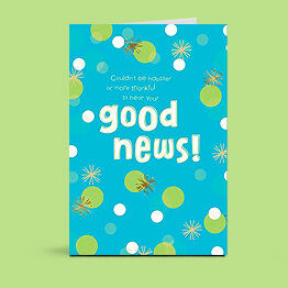 good news congratulations card