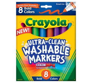 Ultra-Clean Markers, Broad Line, Bold 8 ct.
