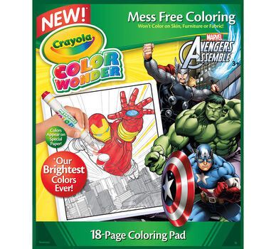 Color Wonder Avengers Refill Book