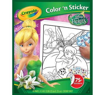 Disney Fairies Color 'n Sticker Book
