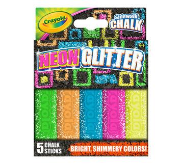 Neon Glitter 5 Ct. Sidewalk Chalk