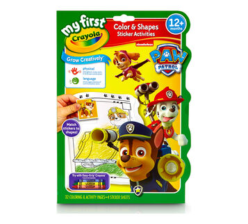 My First Crayola Color & Shapes Sticker Activities Paw Patrol