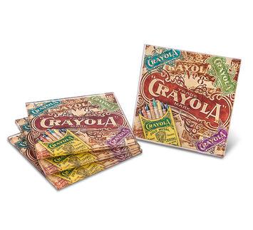 Crayola Glass Coasters - 4 Pack