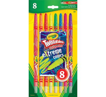 eXtreme colors Twistable Crayons 8 ct