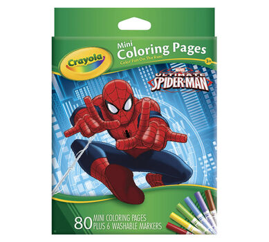 Mini Coloring Pages Marvel Spiderman