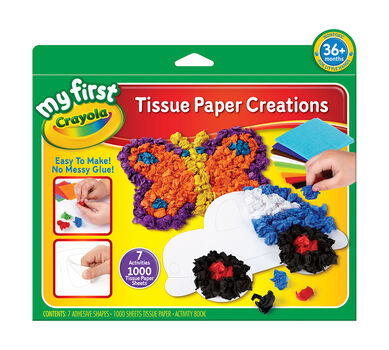 My First Crayola Tissue Paper Creations