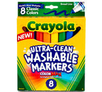 Ultra-Clean Washable Markers, Broad Line, 8 Ct.