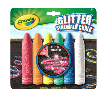 Glitter Sidewalk Chalk