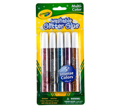 Multicolor Washable Glitter Glue 5 ct.
