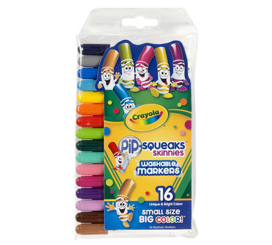 Pip-Squeaks Skinnies Markers, 16 Count