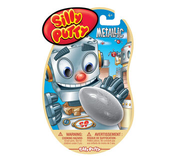 Metallic Silver Silly Putty
