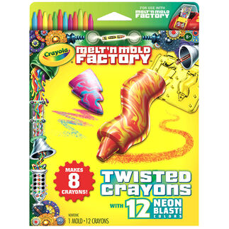Melt n Mold Factory Twisted Crayons Neon Blast Pack