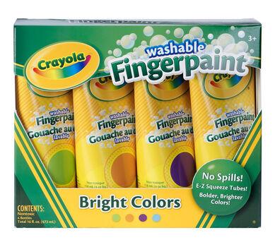 Washable Fingerpaint, Bright Colors 4 ct.