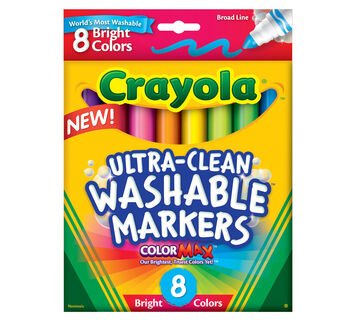 Ultra-Clean Markers, Broad Line, Bright, 8 ct.