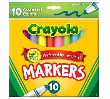 Broad Line Markers, Assorted Colors 10 ct.