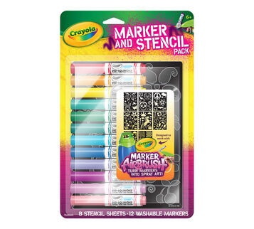 Marker and Stencil Pack, Girl