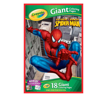 Giant Coloring Pages, Marvel Spider Sense Spider-Man