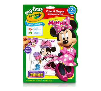 My First Crayola Color & Shapes Sticker Activities Minnie Mouse