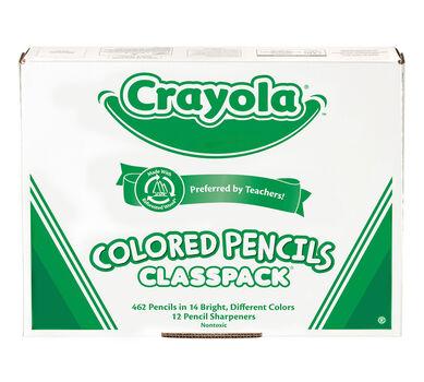 462 Count Colored Pencils Classpack, 14 Colors