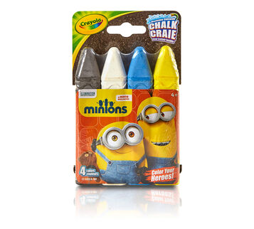 4 ct. Minions Washable Sidewalk Chalk - Color Your Heroes!