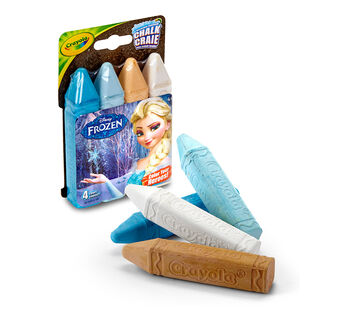 4 ct. Frozen Washable Sidewalk Chalk - Color Your Heroes!