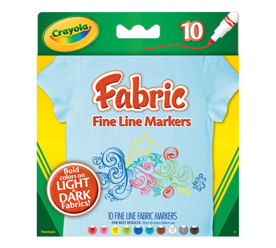 Fine Line Fabric Markers, 10 ct.