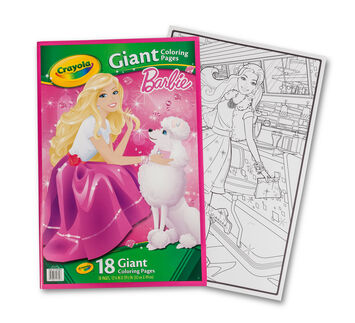 Giant Coloring Pages - Barbie