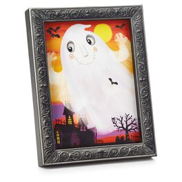 Framed Fiber-Optic Ghost Halloween Wall Art, , large