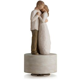 Willow Tree® Promise Musical Engagement Wedding Love Figurine, , large