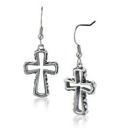 Embrace Cross Earrings, , large