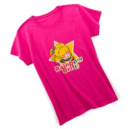 Rainbow Brite™ Women's Fitted Hot Pink T-Shirt, , large