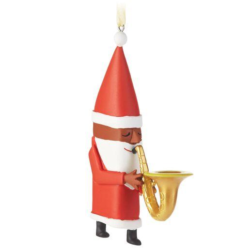 African-American Jazz Santa Ornament