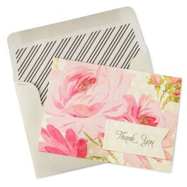 Pink French Rose Thank You Notes, , large