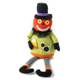 Halloween Pumpkin Fabric Figurine, , large