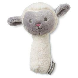Lamb Stuffed Rattle, , large