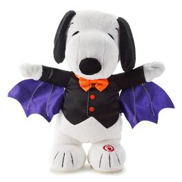 Snoopy the Bat Halloween Interactive Stuffed Animal, , large
