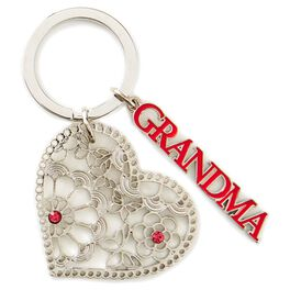 Grandma Heart-Shaped Key Chain, , large