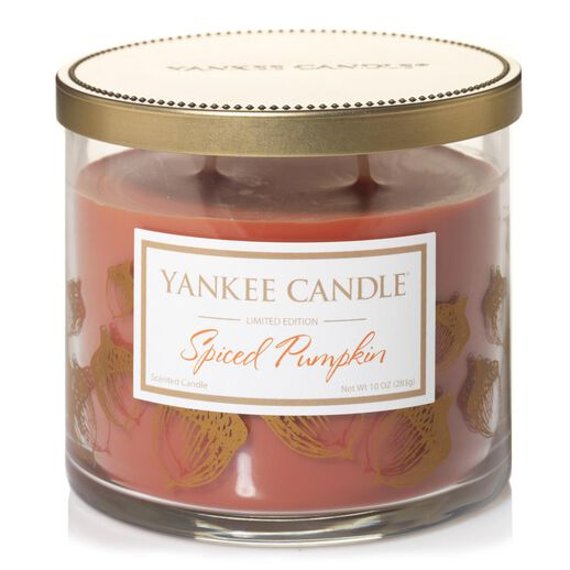Spiced Pumpkin Large 2 Wick Tumbler Candle By Yankee
