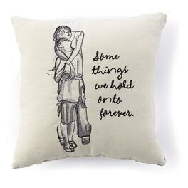Hold Onto Forever Embroidered 10x10 Pillow, , large
