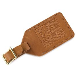 Loud Proud American Leather Luggage Tag, , large