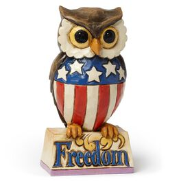 Mini Patriotic Owl Figurine, , large