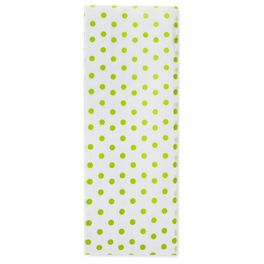 Chartreuse Polka Dot Tissue Paper, , large
