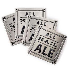 Stamped Metal Coaster Set, , large
