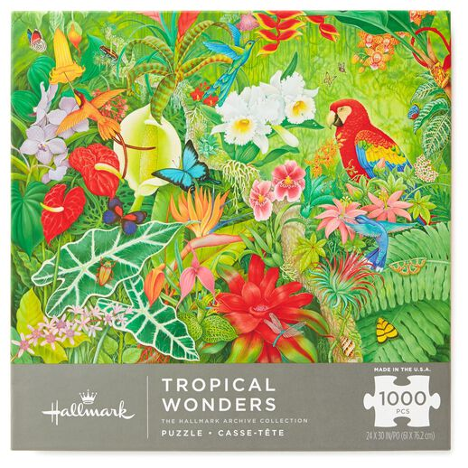 Tropical Wonders Jungle Rainforest 1000-Piece Jigsaw Puzzle