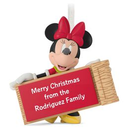 Minnie Mouse with Sled Personalized Ornament, , large