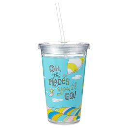 Dr. Seuss Oh, the Places You'll Go Graduation Double-Walled Tumbler Cup With Lid, , large