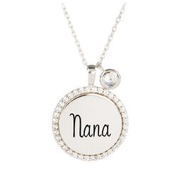 """Engraved """"Nana"""" Necklace in Sterling Silver, , large"""