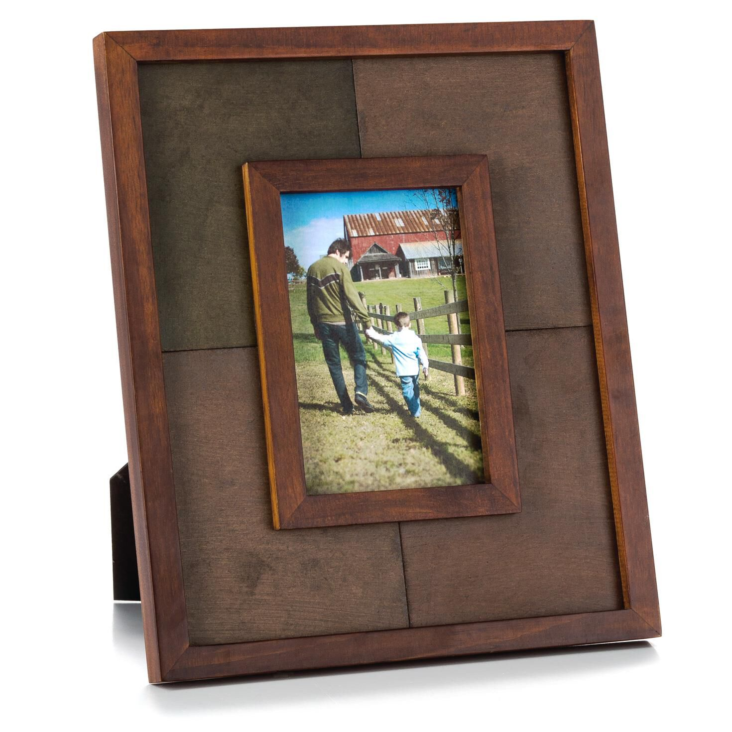colorblock stained wood picture frame 4x6 picture frames hallmark. Black Bedroom Furniture Sets. Home Design Ideas